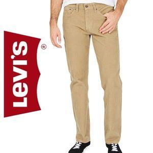 Mens Levi's 514 Tan Corduroy Jeans
